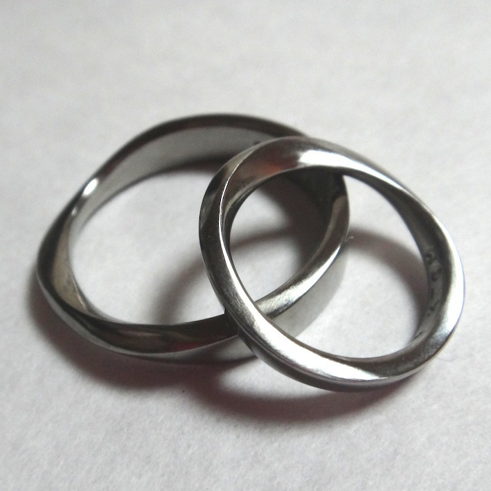 メビウスの輪のハフニウムリング