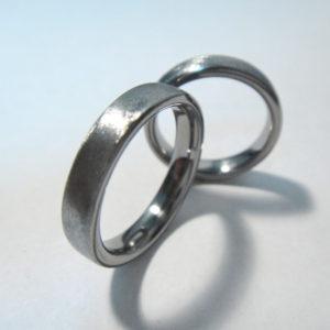 ハフニウムのマリッジリング Hafnium Rings