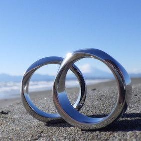 メビウスの輪のツインリング