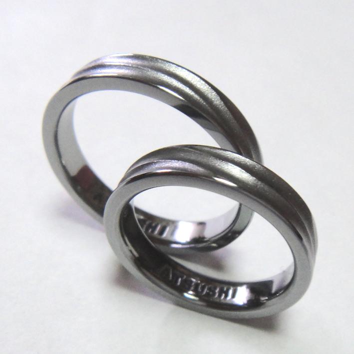 同時に制作!お揃いのタンタルのペアリング Tantalum Rings