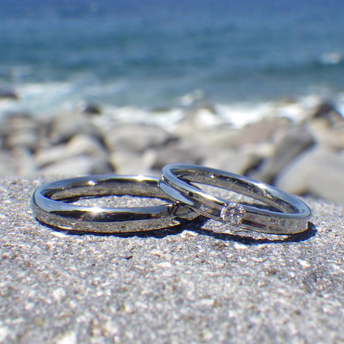 超ハイスペックな物性のハフニウムの結婚指輪 Hafnium Rings