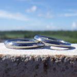 金属アレルギーの心配がない優秀な希少金属・ハフニウムの結婚指輪 Hafnium Rings