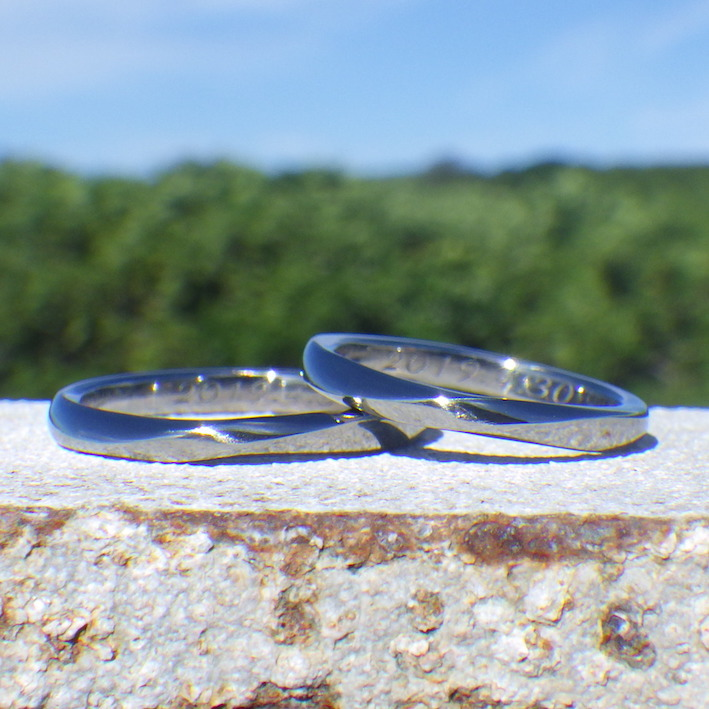 ビッグバンから宇宙の終わりまで変わらない最上質!ハフニウムの結婚指輪 Hafnium Rings