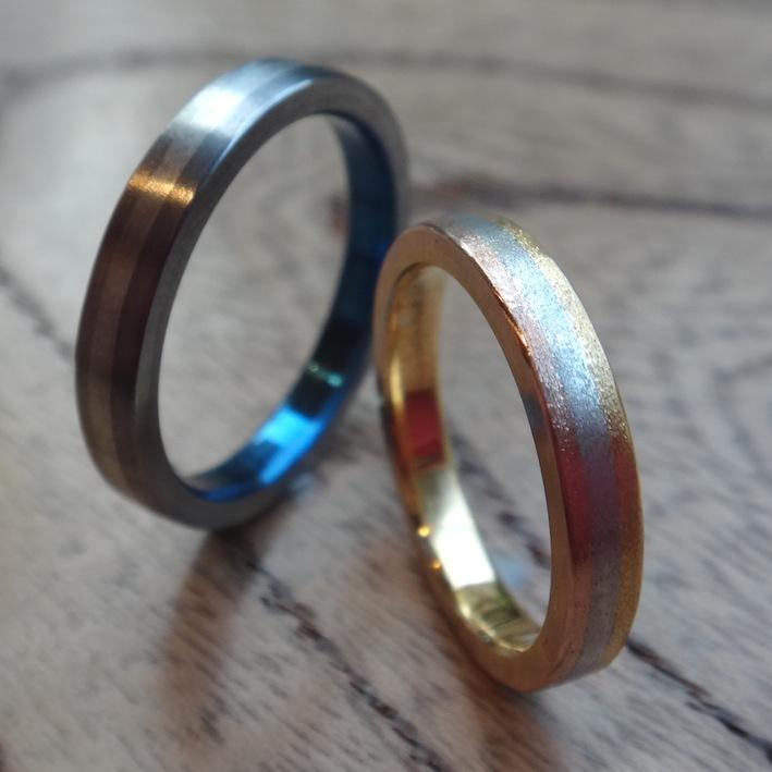 世界でたったひとつ!イリジウムを組み合わせた指輪 Iridium Combination Rings