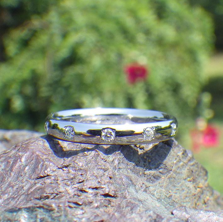 金属アレルギーにならないハフニウムで結婚指輪を再制作 Hafnium Rings