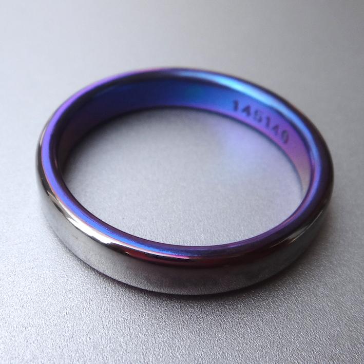 絶妙の色合い!タンタルとジルコニウムの指輪 Tantalum×Zircinium Ring