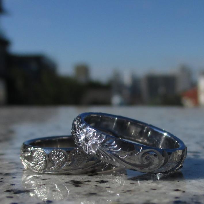 バナジウムの指輪とニオブの指輪