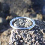 イリジウムの指輪をセミオーダーで Iridium Ring