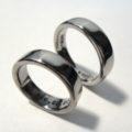 チタンの文字刻印リング Titanium Rings