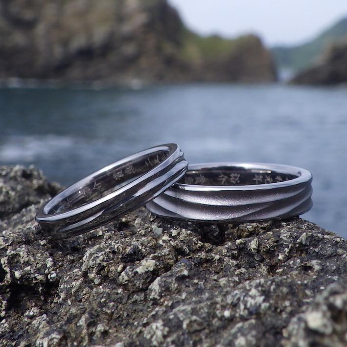 鏡面仕上げとツヤ消し仕上げのそれぞれの美しさ!タンタルの結婚指輪 Tantalum Rings