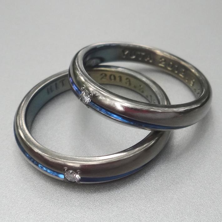ブルームーンをイメージ ジルコニウムの指輪 Zirconium Rings