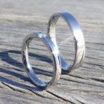 マリッジリングとしてもエンゲージリングとしても・ハフニウムとダイヤモンドのペアリング Hafnium Ring