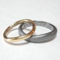 タンタルと金のペアリング Tantalum&Gold Rings