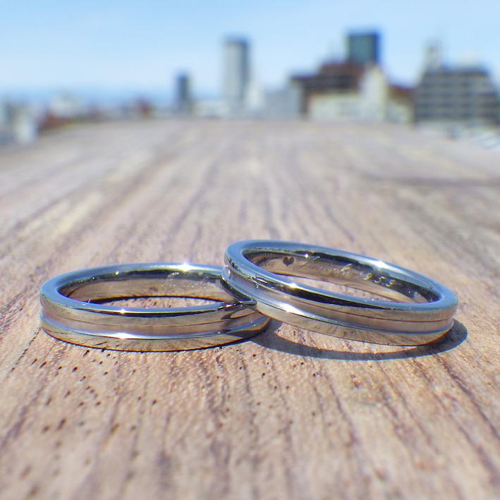 イメージが形になるオーダーメイドスタイル・タンタルの結婚指輪 Tantalum Rings