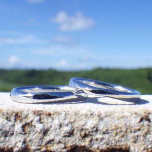 たった一品のオーダーメイド!イリジウムの結婚指輪 Iridium Rings