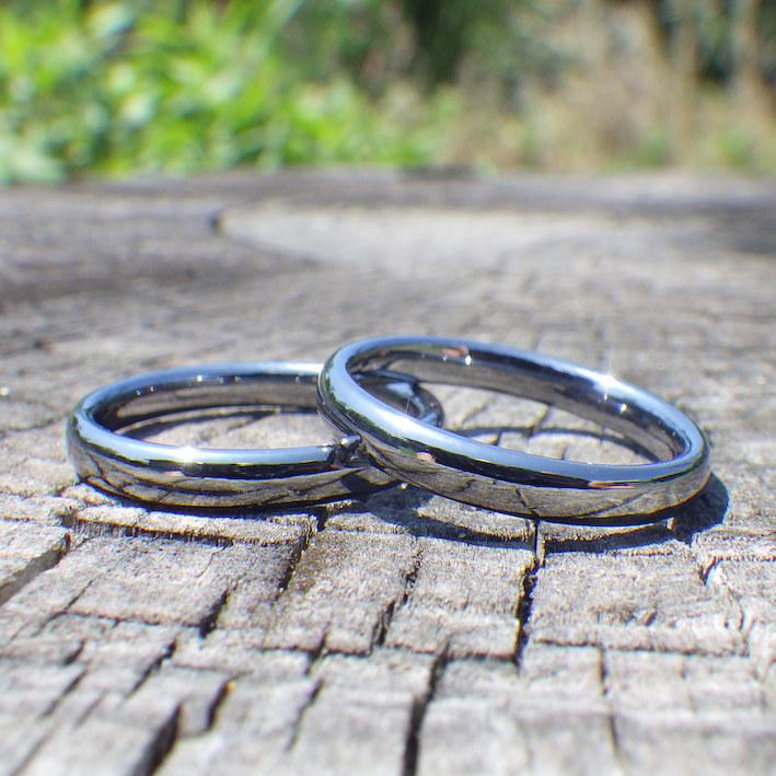 アトピーでも安心のタンタルの結婚指輪をメールオーダーで Tantalum Rings