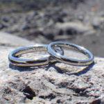 鍛造ハフニウムの強くて丈夫な結婚指輪 Hafnium Rings