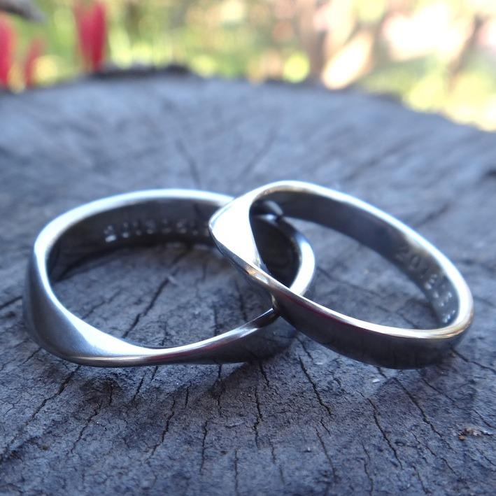 ハフニウムのメビウスの指輪 Hafnium Rings