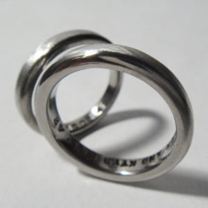 イリジウム×チタン マリッジリング Iridium×Titanium Rings