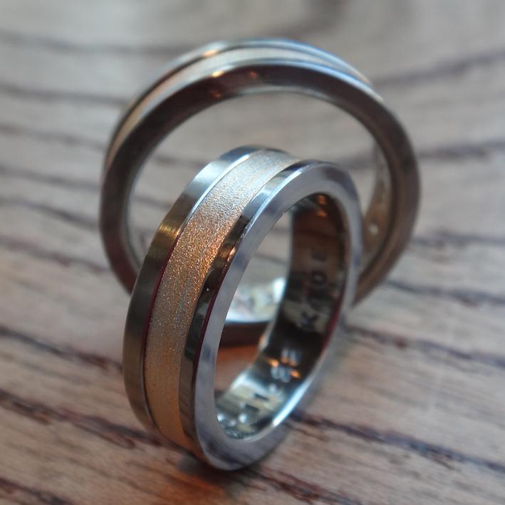 金属アレルギーにならない木目金の指輪 Metal allergy-free Mokumegana rings
