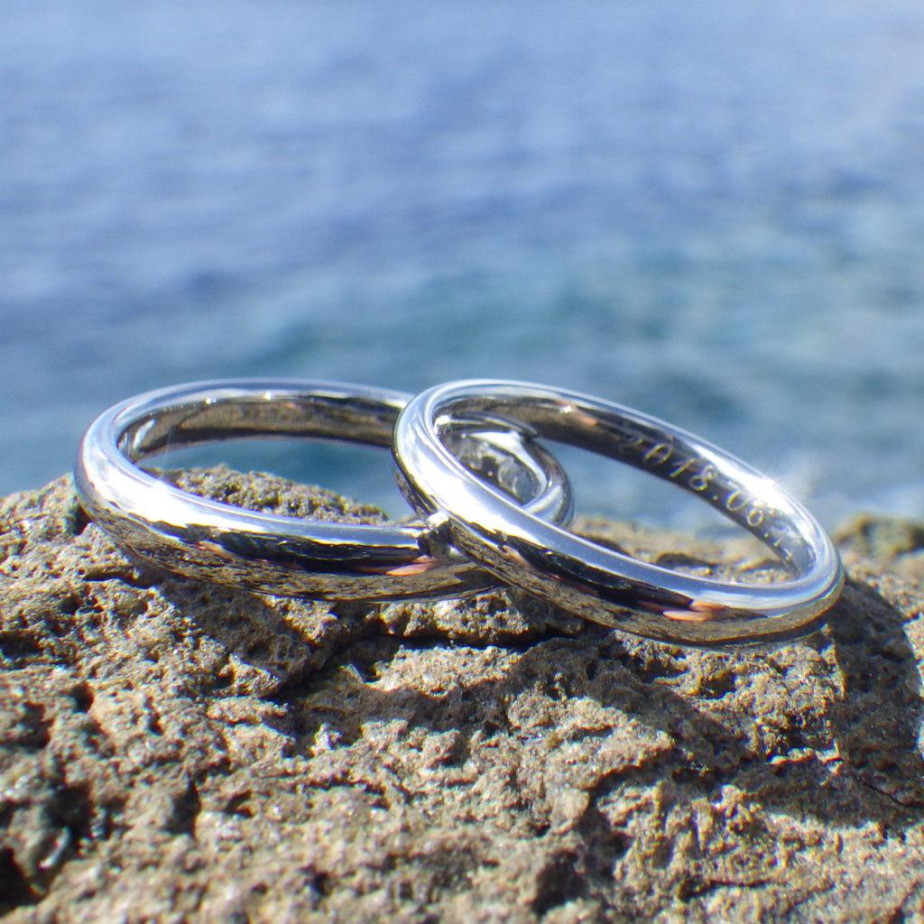 地球の鉱物そして元素の美しさ・ハフニウムの結婚指輪 Hafnium Rings