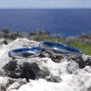 チタン族の王様に当たる金属、ハフニウムの結婚指輪 Hafnium Rings