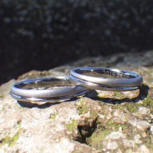 金属アレルギーの方でも安心・純タンタルの結婚指輪 Tantalum Rings
