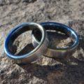 青のグラデーション ジルコニウムの結婚指輪 Zirconium Rings