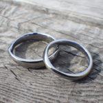 研究開発の熱意!ハフニウムの結婚指輪 Hafnium Rings