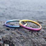 ひと連なりのグラデーション・ジルコニウムの結婚指輪 Zirconium Rings