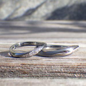 まさに一生の宝物!ハフニウムにダイヤモンドが輝く結婚指輪 Hafnium Rings