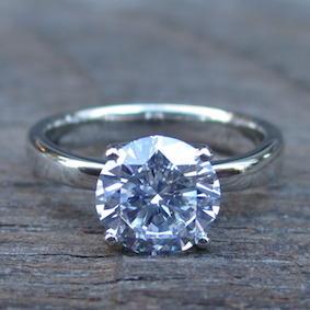 イリジウム割プラチナの指輪