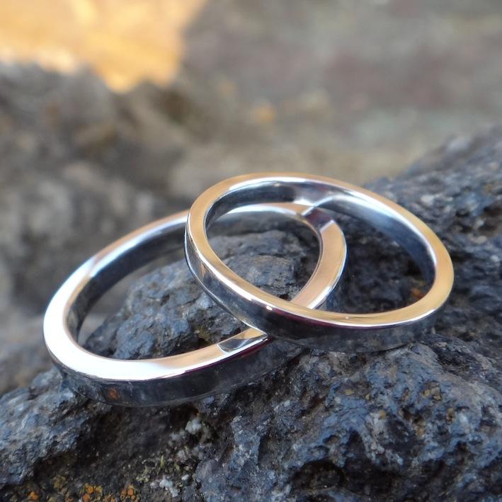 絶品!世界ではじめて実現したルテニウムの結婚指輪 Ruthenium Rings