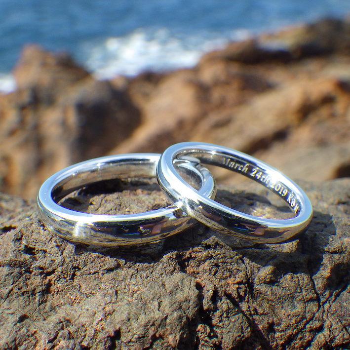 金属の王、全物質の王、イリジウムの結婚指輪 Iridium Rings