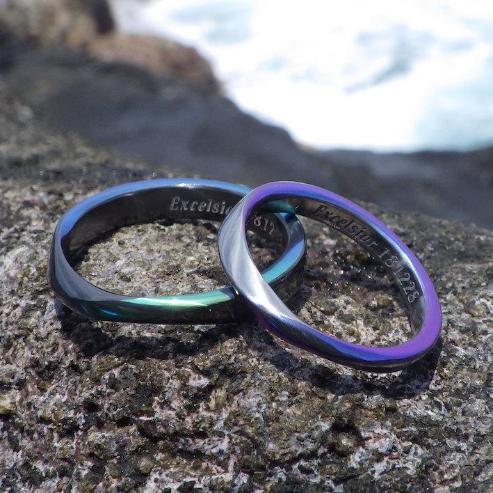 金属アレルギーでも楽しめる色鮮やかなデザイン・ジルコニウムの結婚指輪 Zirconium Rings