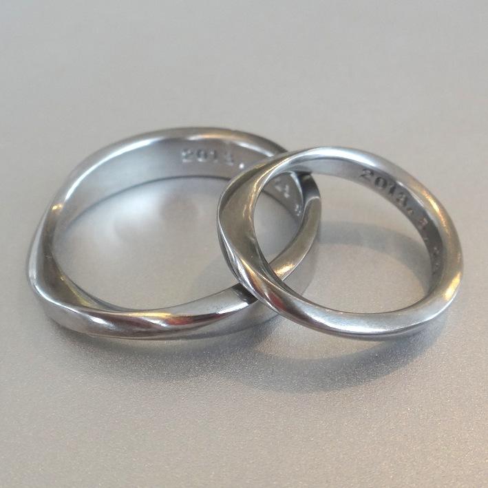 世界でたったひとつのハフニウムの結婚指輪 Hafnium Rings