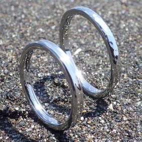 人間にもっとも優しい金属素材・ハフニウムの指輪